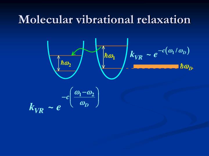Molecular vibrational relaxation
