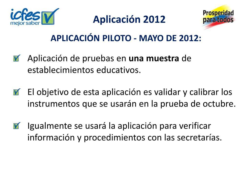 Aplicación 2012