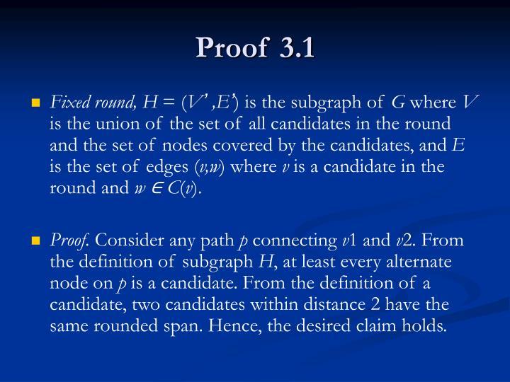Proof 3.1