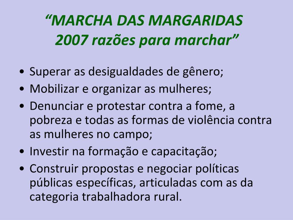 """MARCHA DAS MARGARIDAS"
