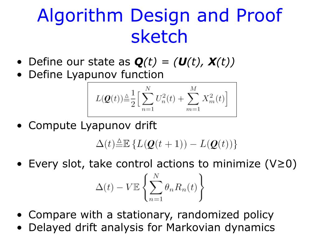 Algorithm Design and Proof sketch