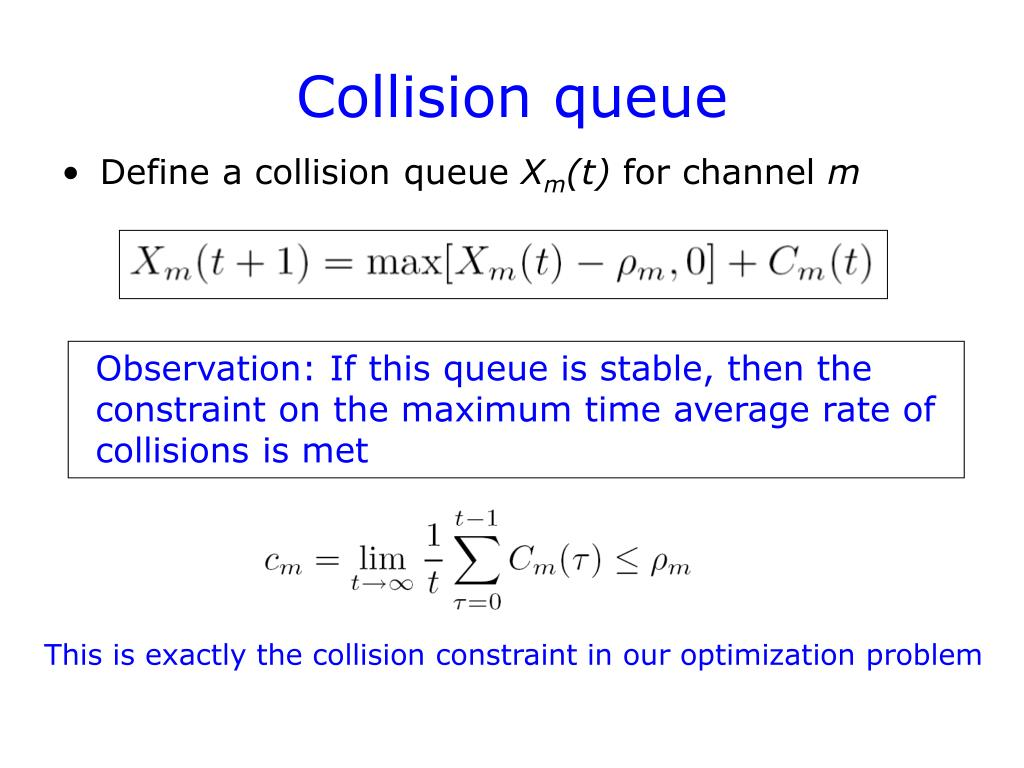 Collision queue