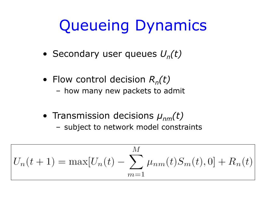 Queueing Dynamics