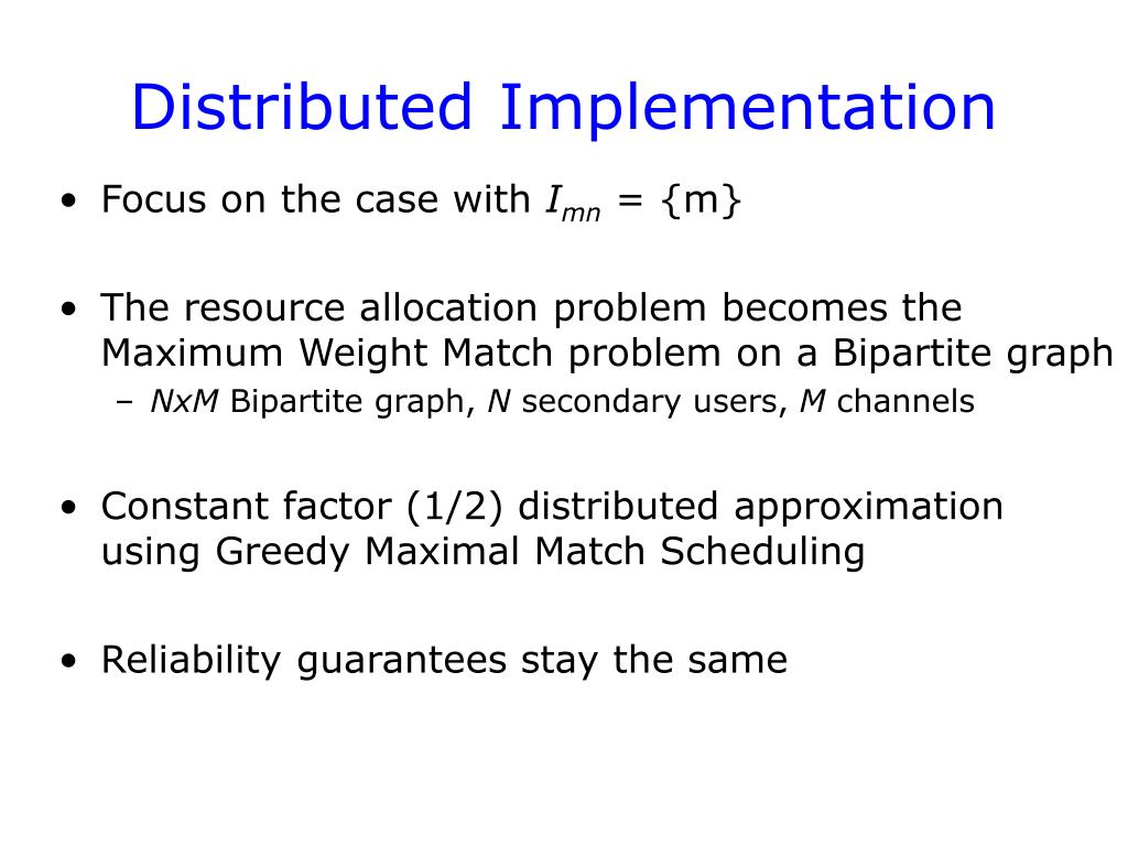 Distributed Implementation
