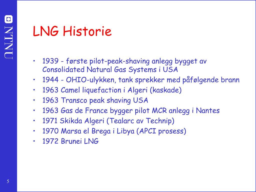 LNG Historie