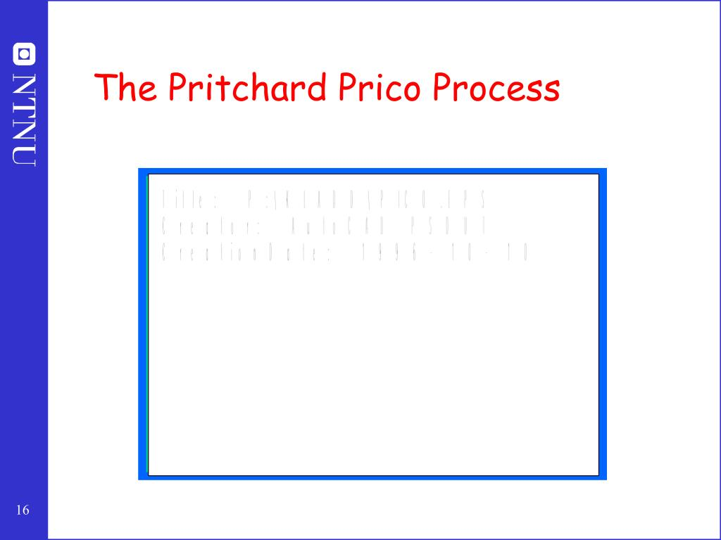 The Pritchard Prico Process