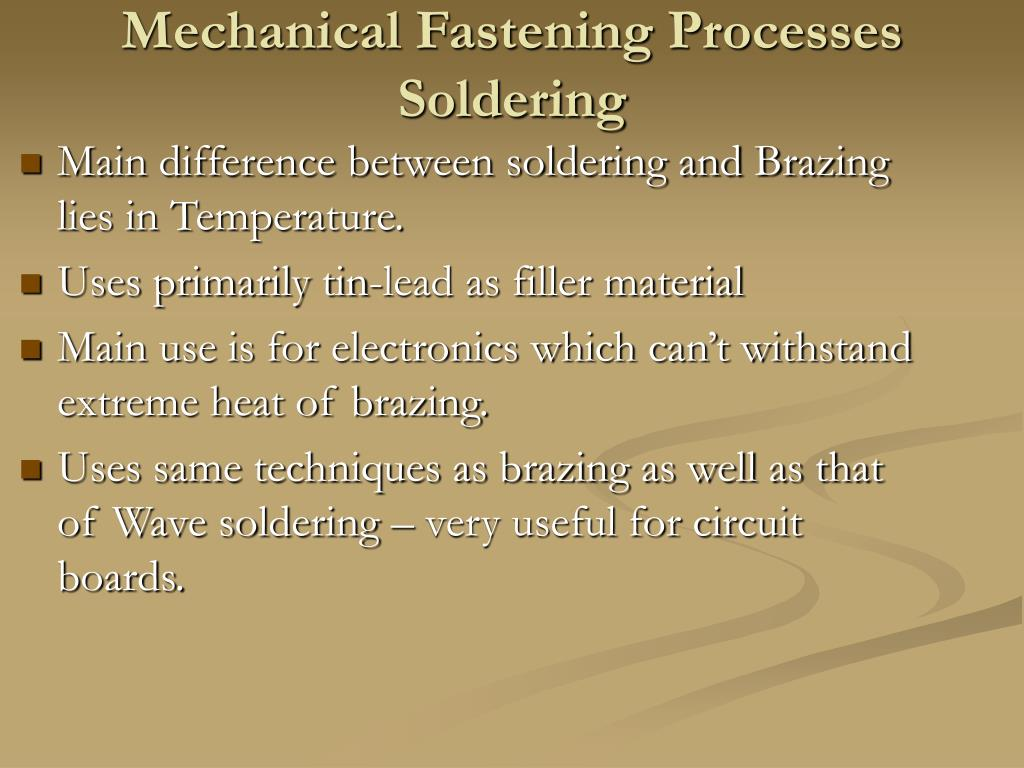 difference between soldering and brazing pdf