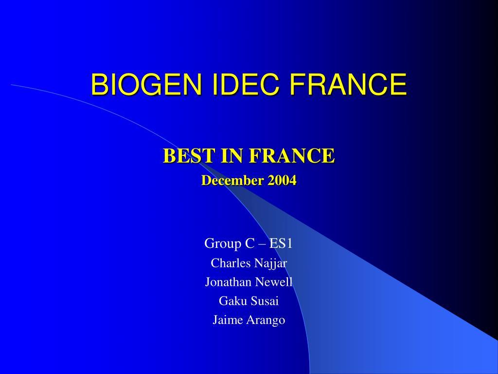 BIOGEN IDEC FRANCE