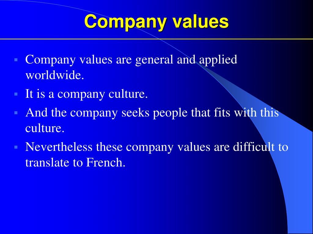 Company values