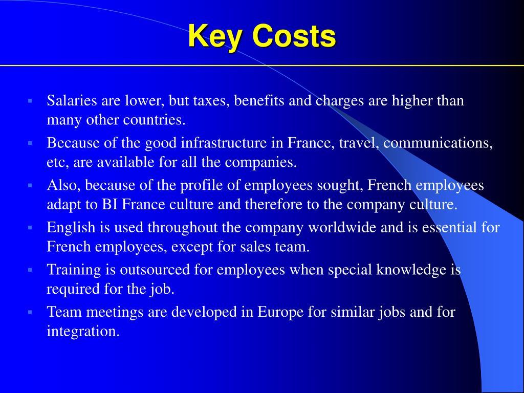 Key Costs
