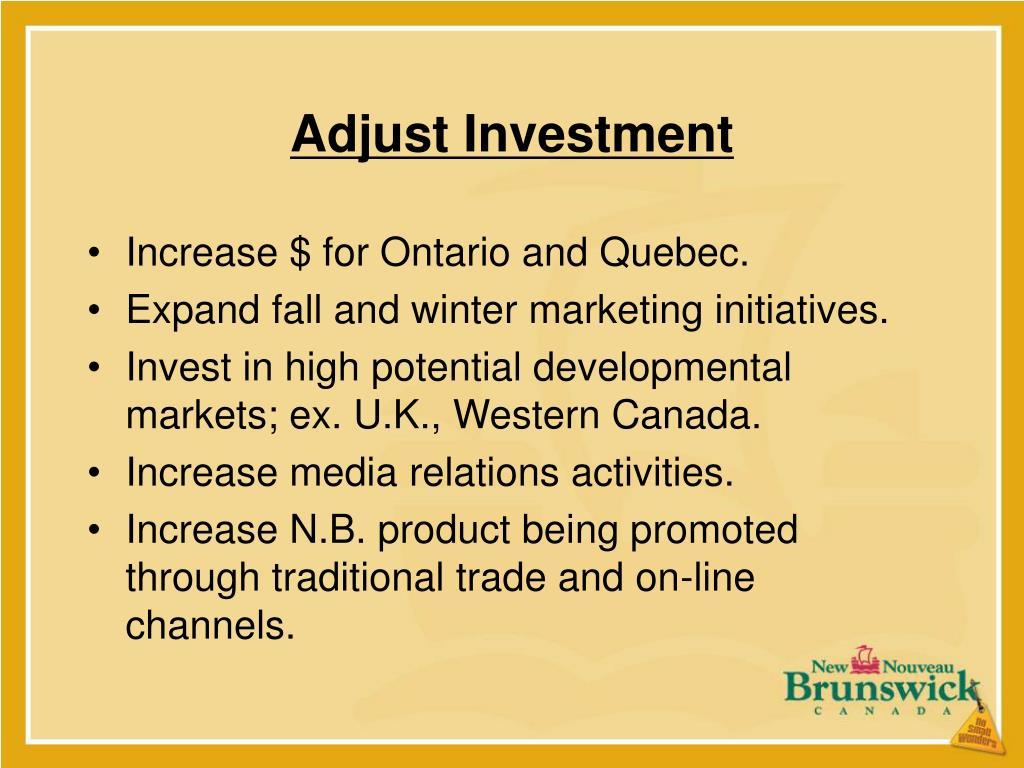 Adjust Investment