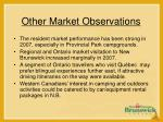 other market observations