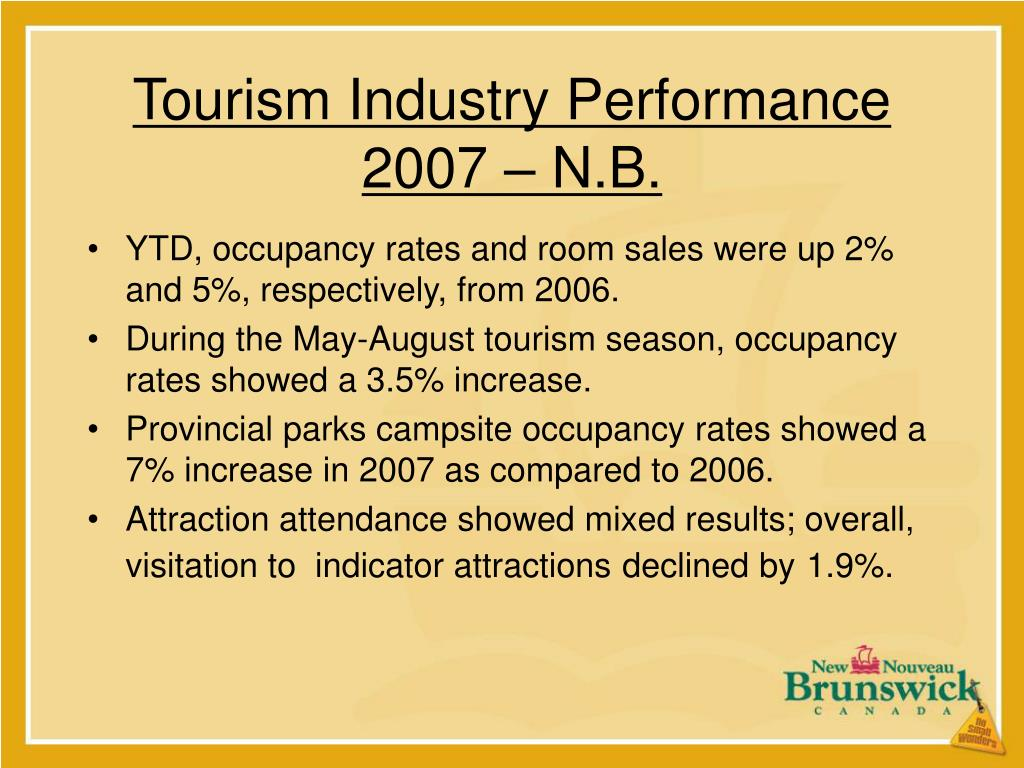 Tourism Industry Performance 2007 – N.B.