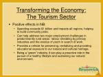 transforming the economy the tourism sector