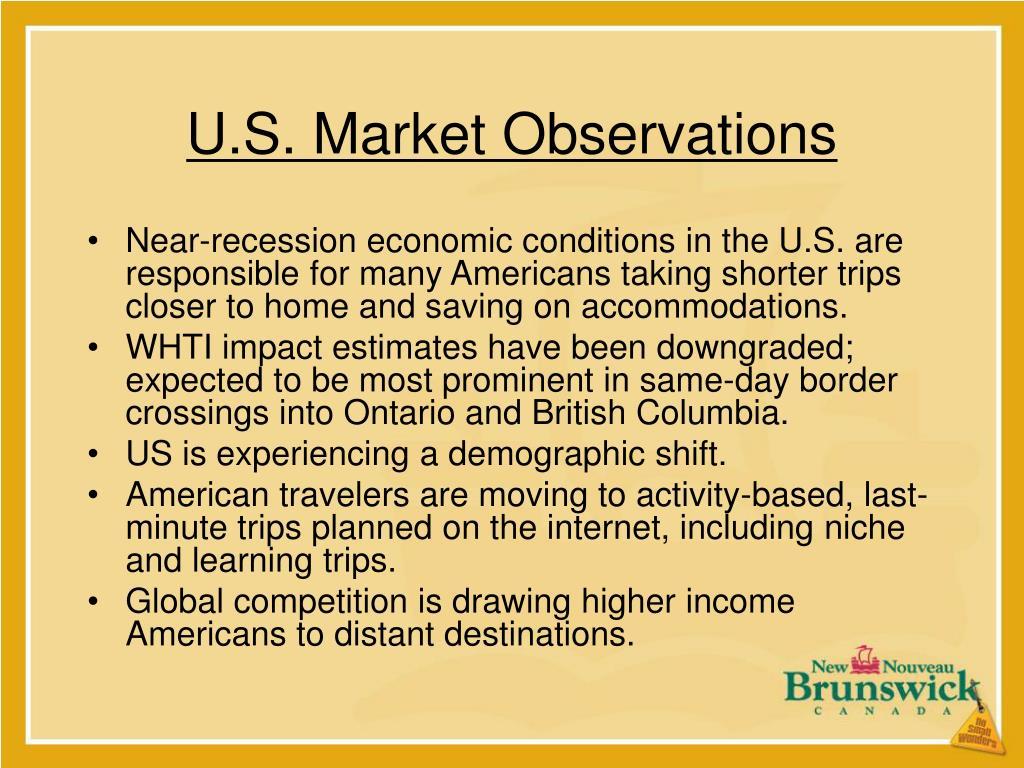U.S. Market Observations