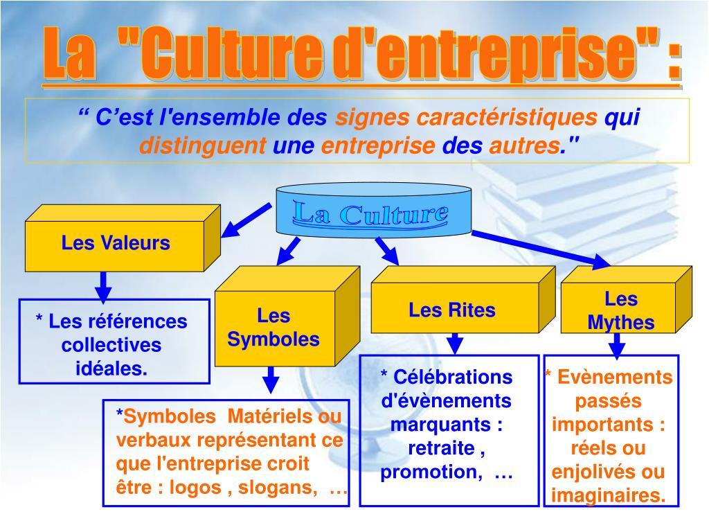 """La  """"Culture d'entreprise"""" :"""