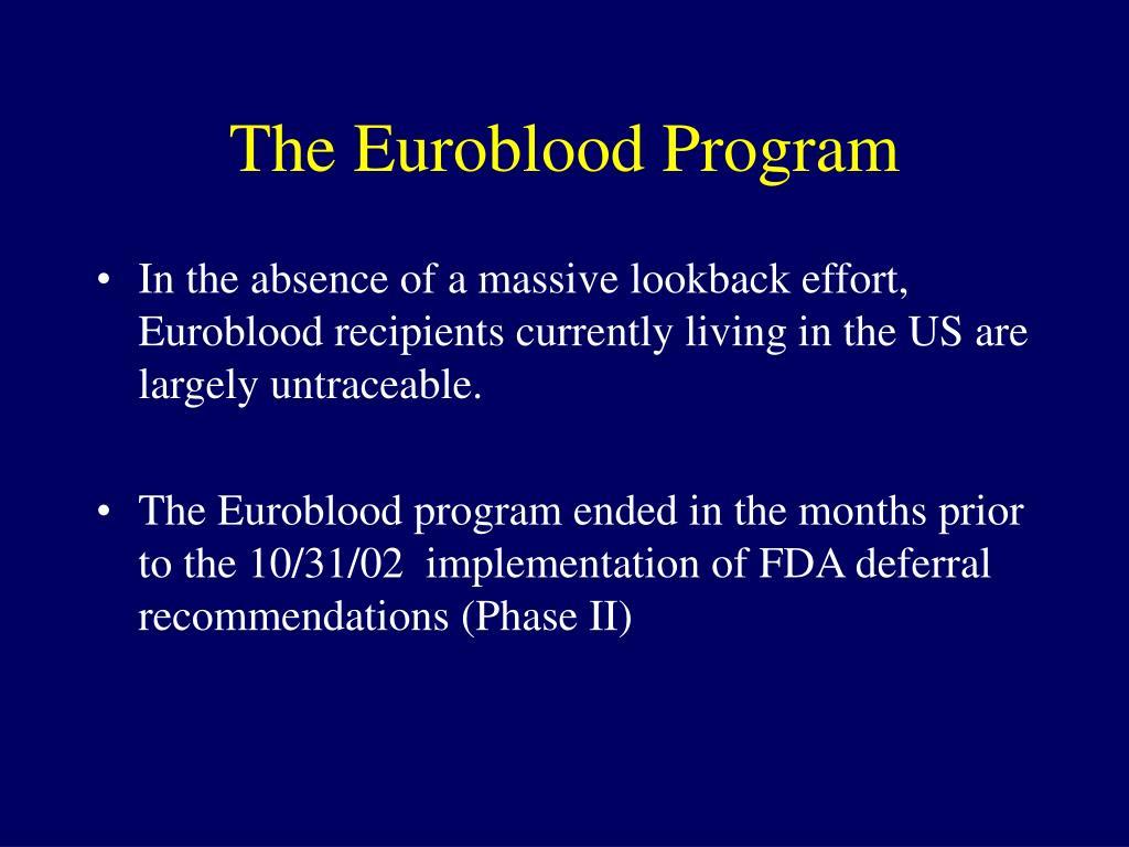 The Euroblood Program