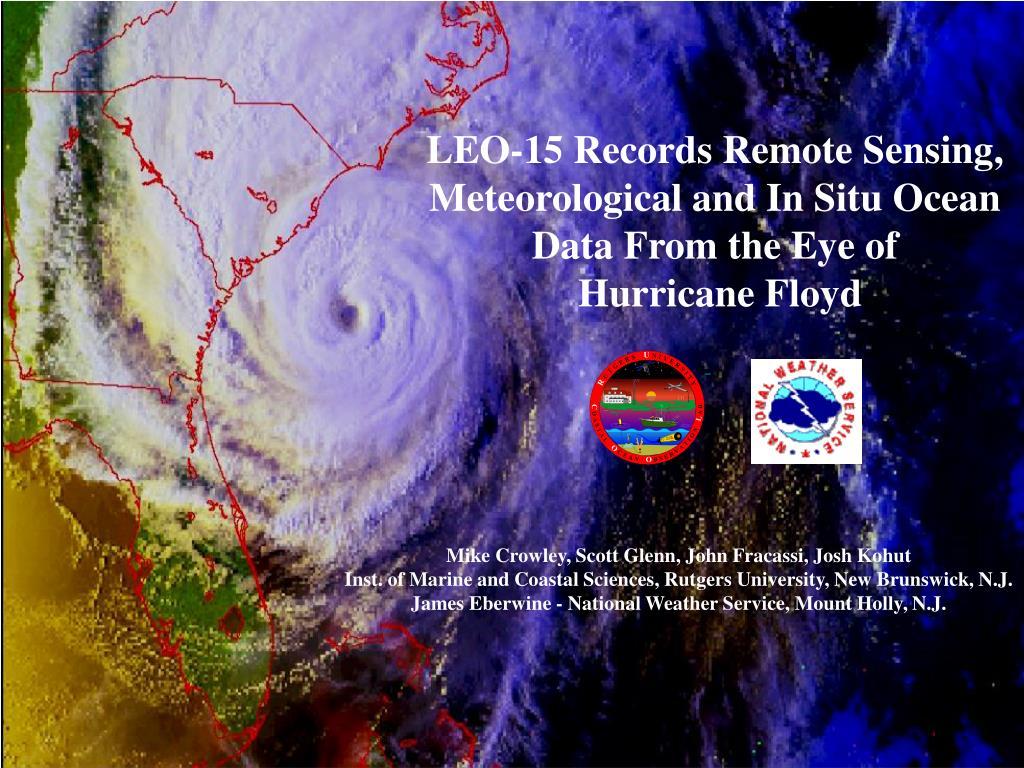 LEO-15 Records Remote Sensing,