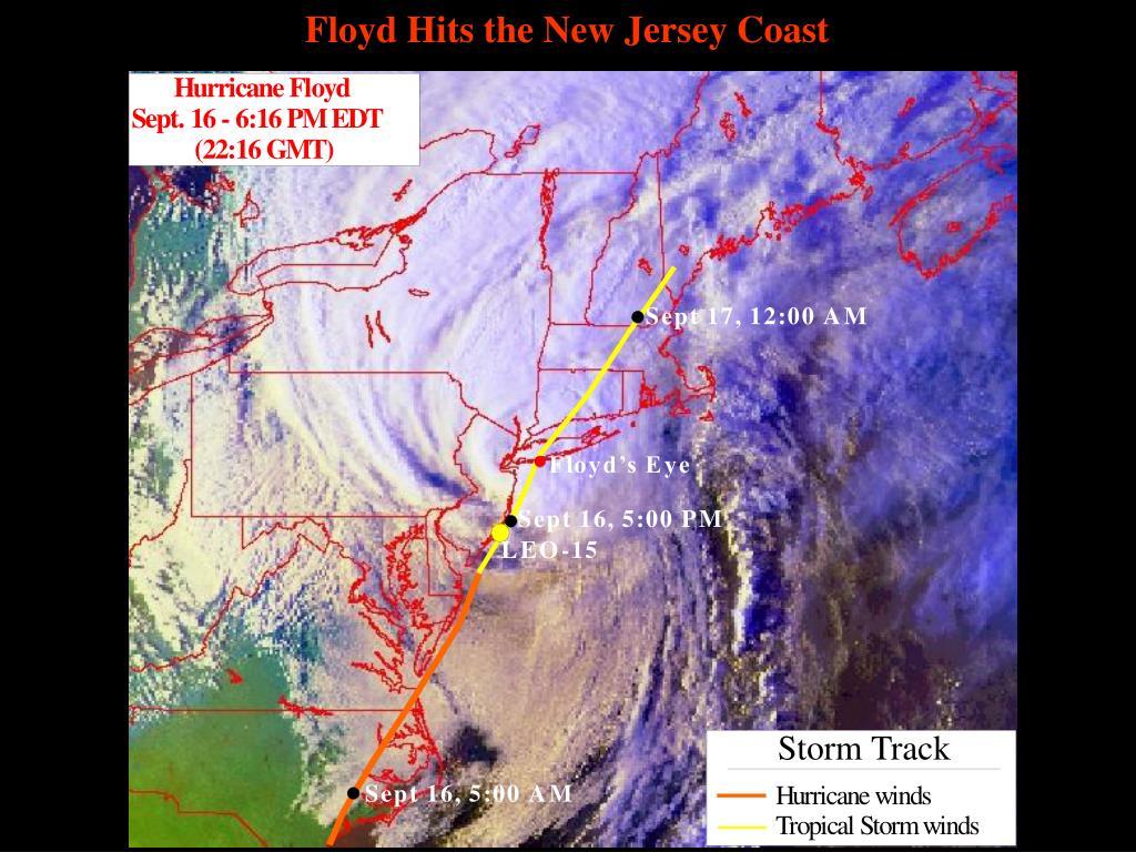 Floyd Hits the New Jersey Coast