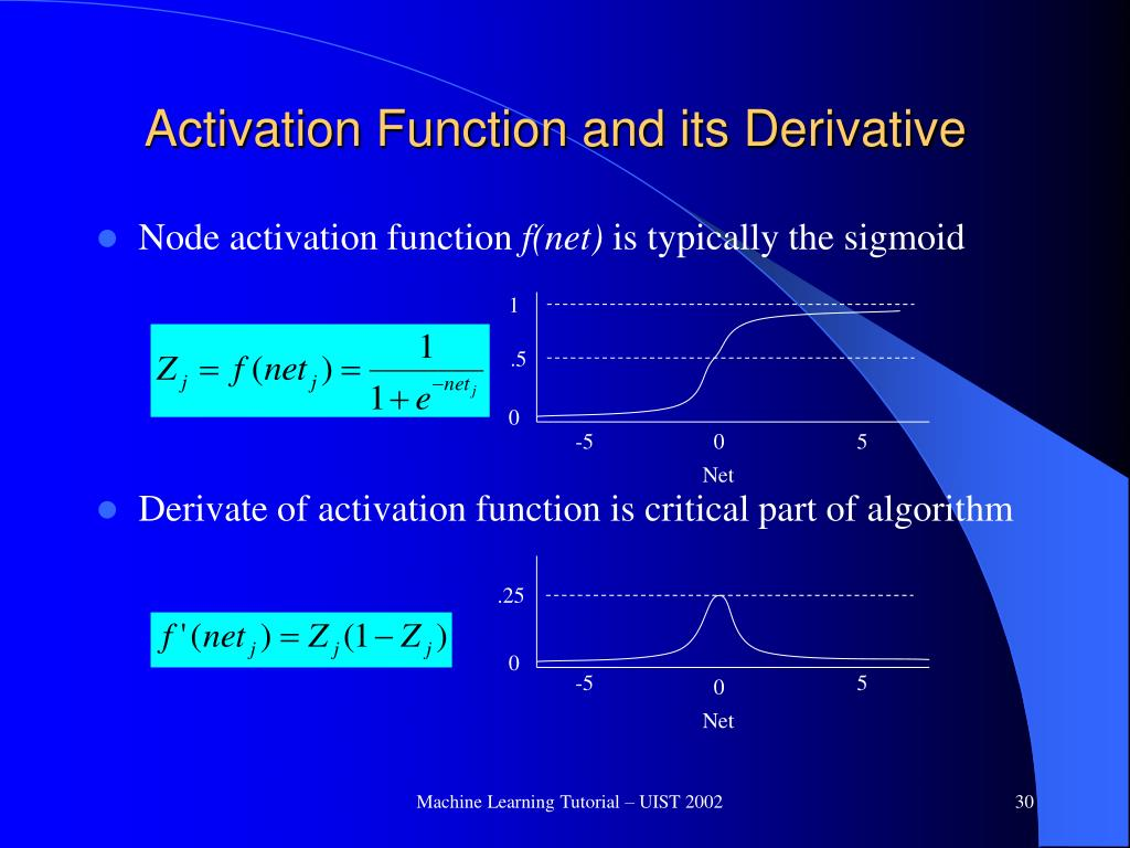 Activation Function and its Derivative