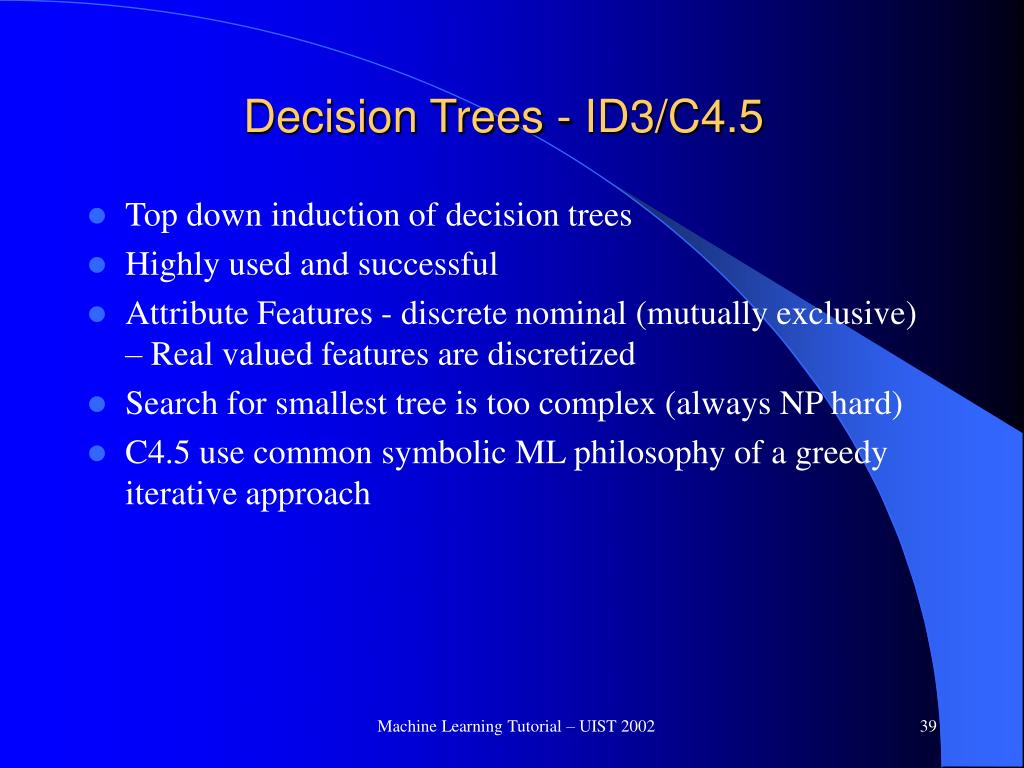 Decision Trees - ID3/C4.5