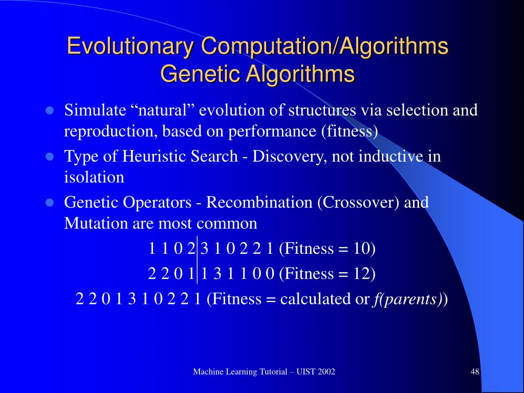Evolutionary Computation/Algorithms