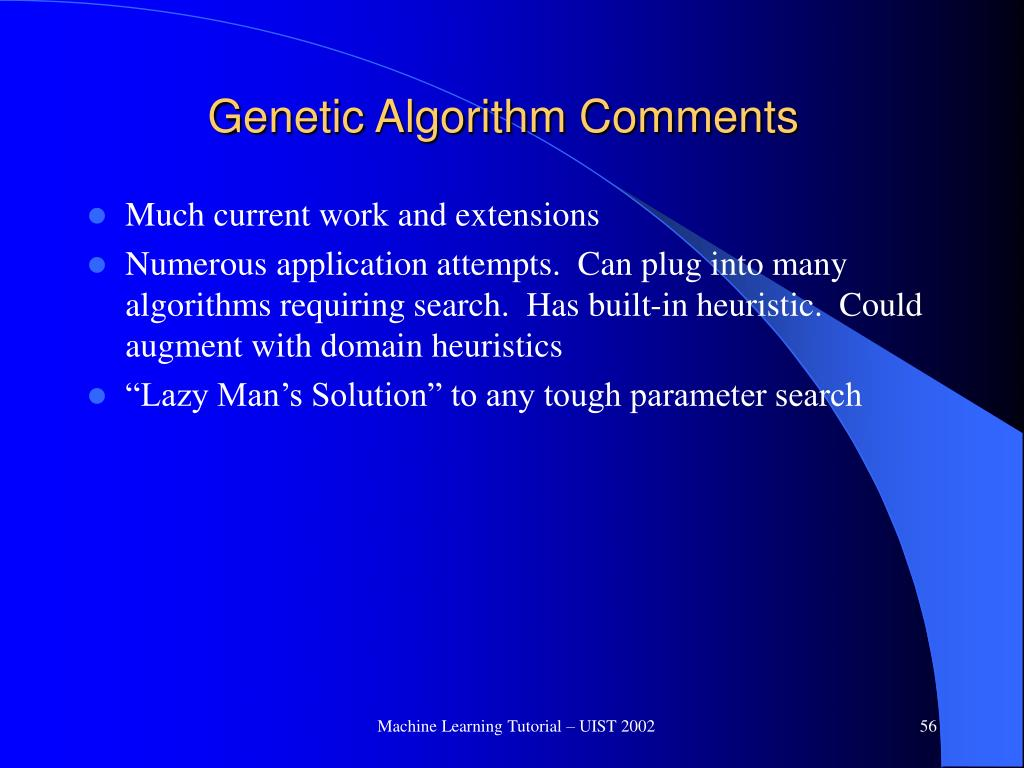 Genetic Algorithm Comments