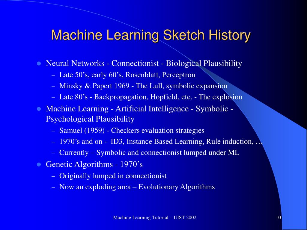 Machine Learning Sketch History