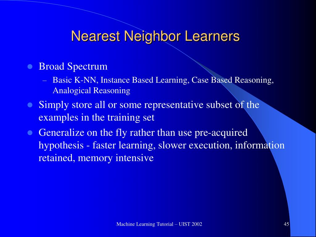 Nearest Neighbor Learners