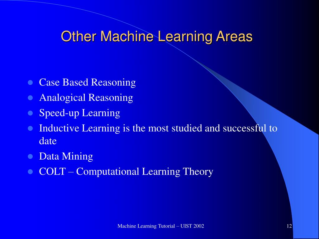 Other Machine Learning Areas
