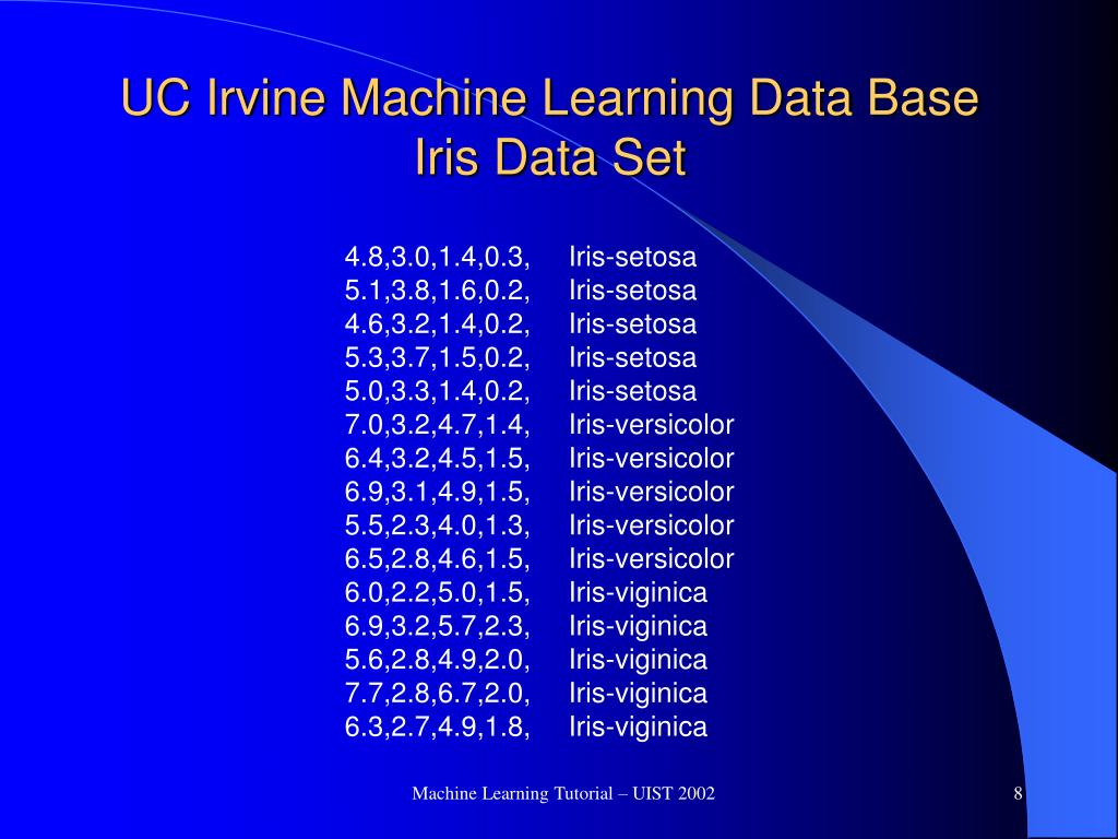 UC Irvine Machine Learning Data Base