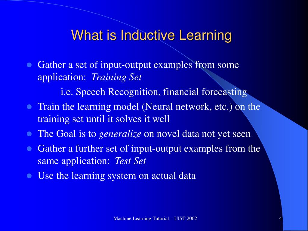 What is Inductive Learning
