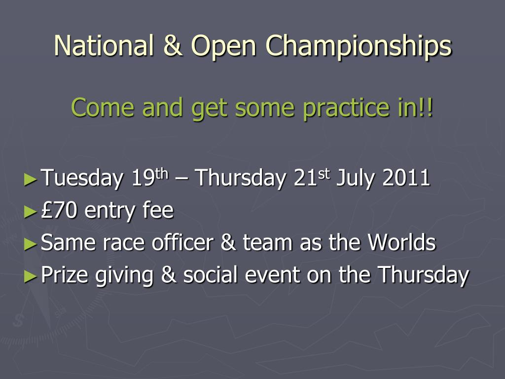 National & Open Championships
