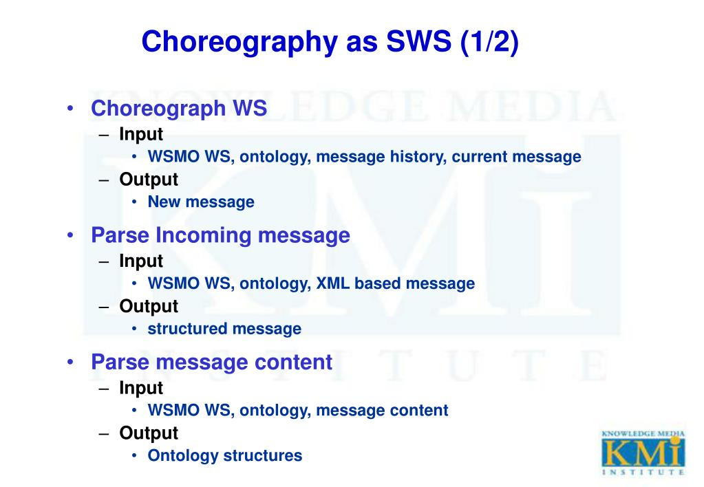 Choreography as SWS (1/2)