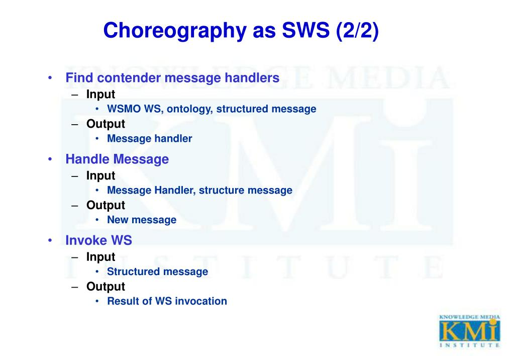 Choreography as SWS (2/2)