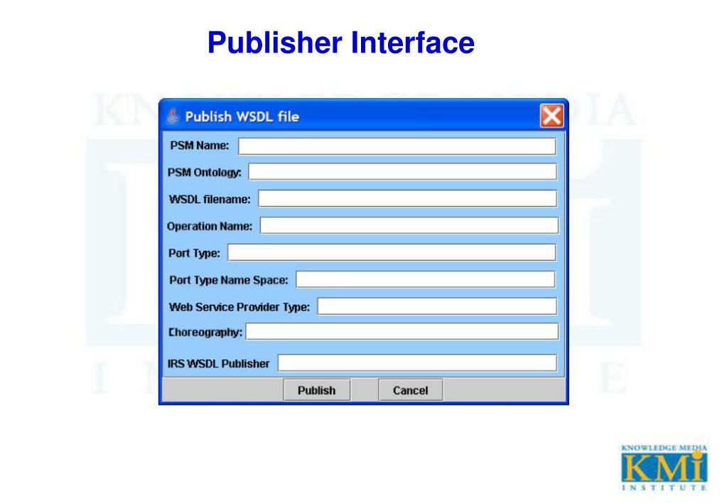 Publisher Interface