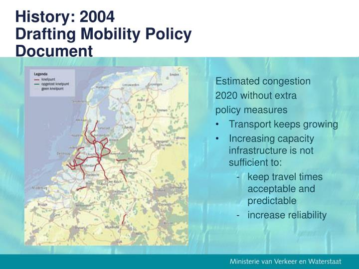 History 2004 drafting mobility policy document