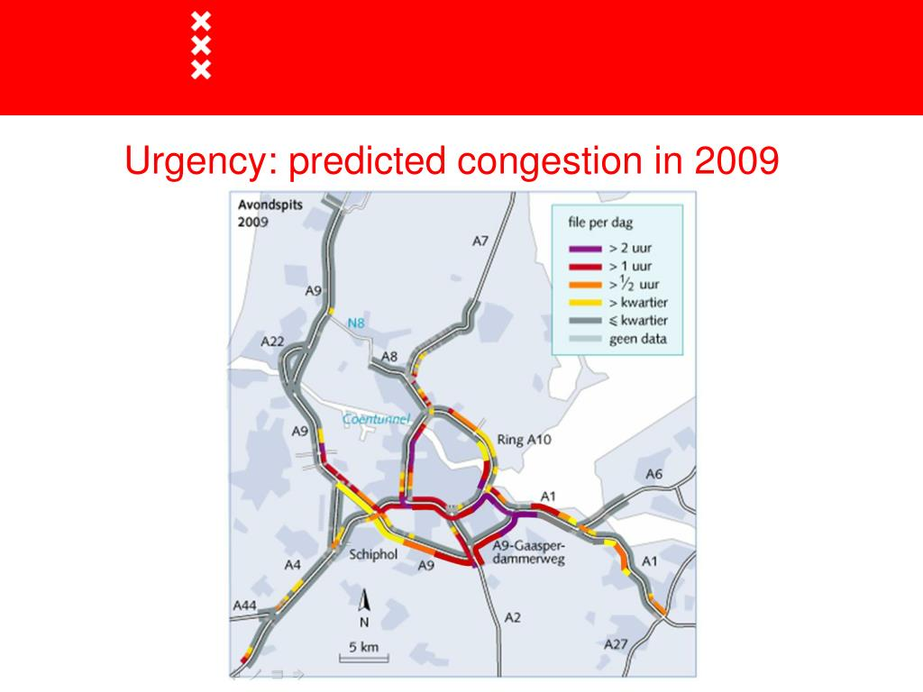 Urgency: predicted congestion in 2009