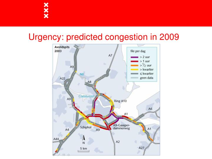 Urgency predicted congestion in 2009