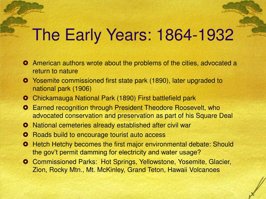 The Early Years: 1864-1932