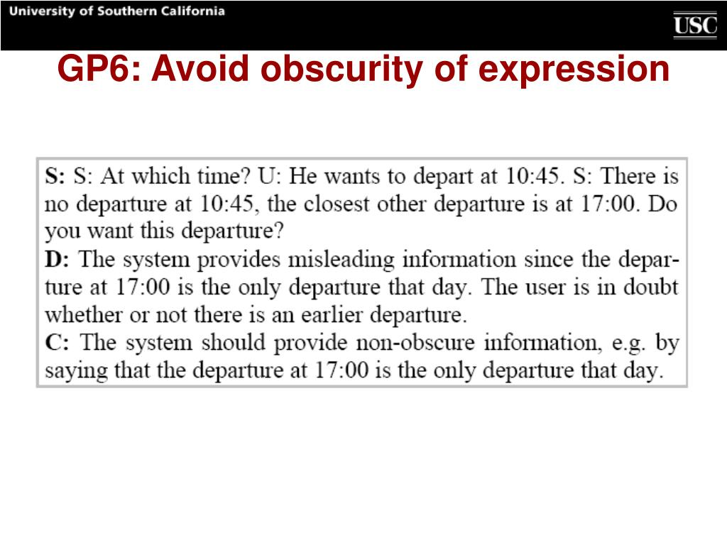 GP6: Avoid obscurity of expression
