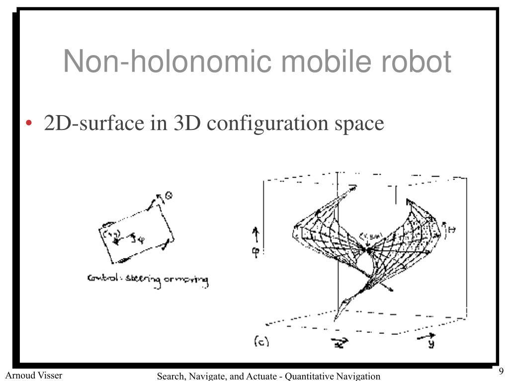 Non-holonomic mobile robot