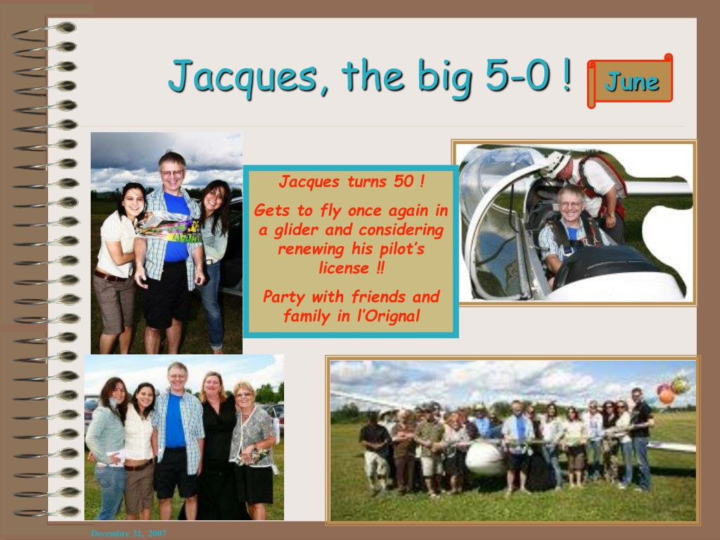 Jacques, the big 5-0 !