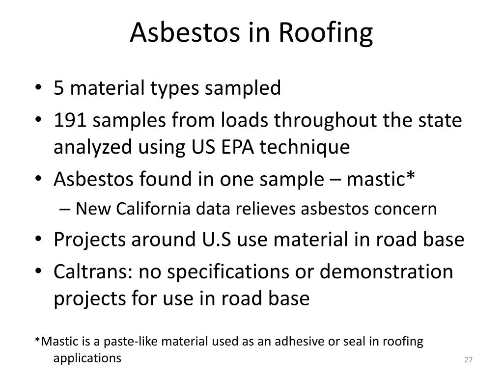 Asbestos in Roofing