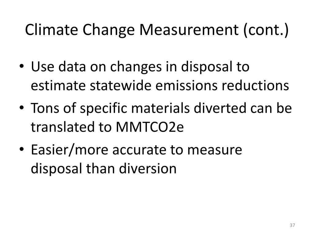 Climate Change Measurement (cont.)