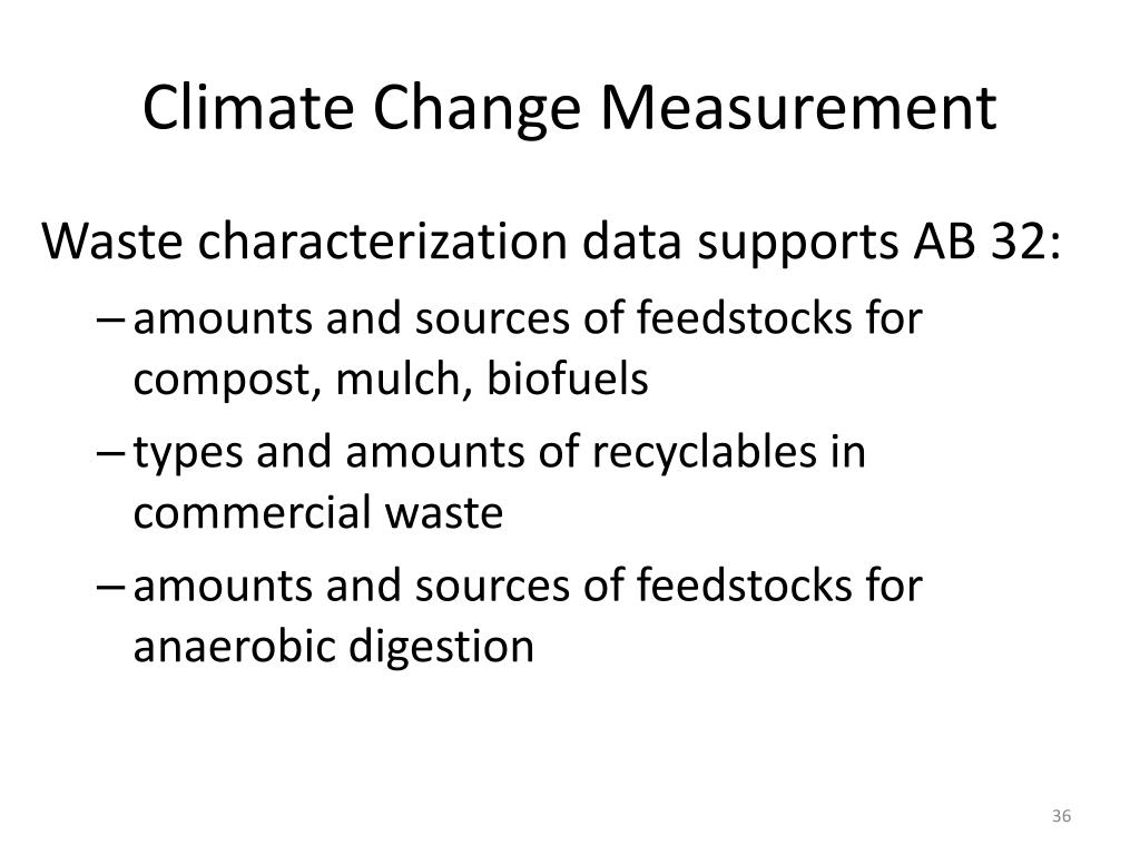 Climate Change Measurement