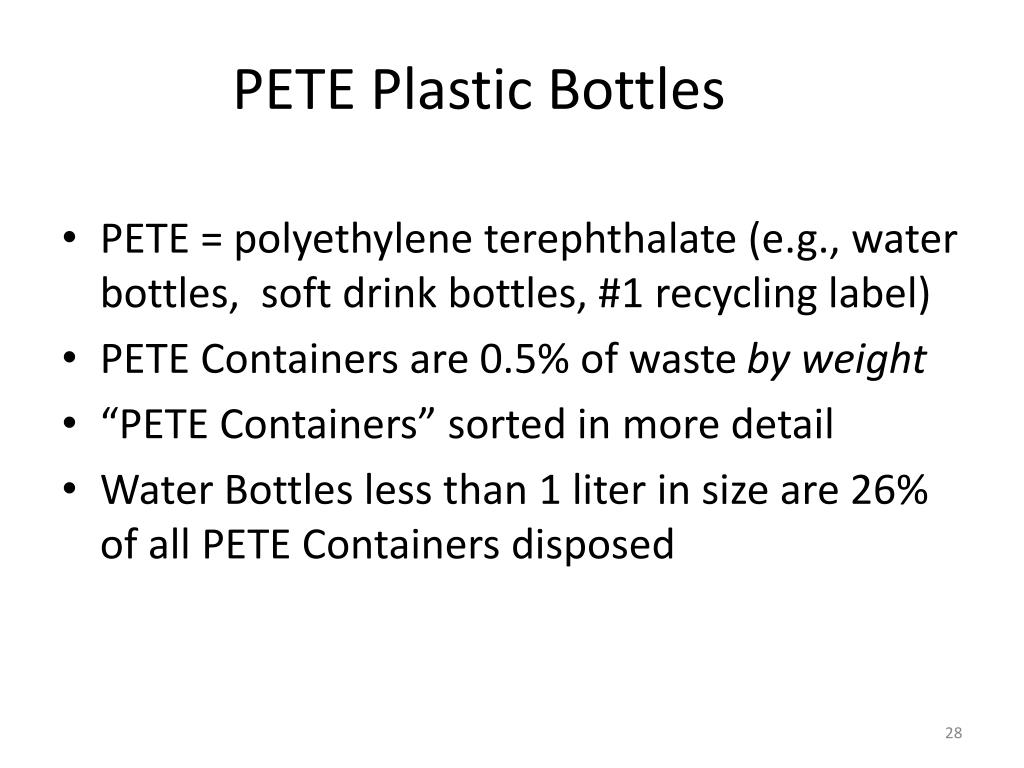 PETE Plastic Bottles