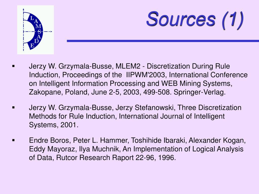 Sources (1)