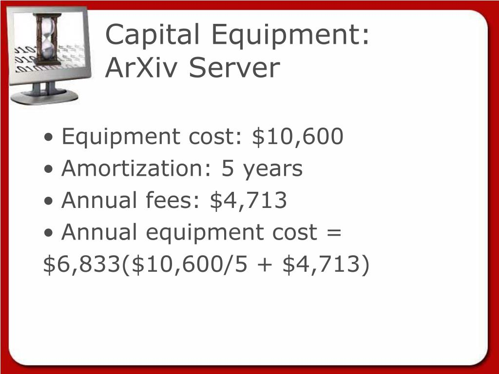 Capital Equipment: ArXiv Server