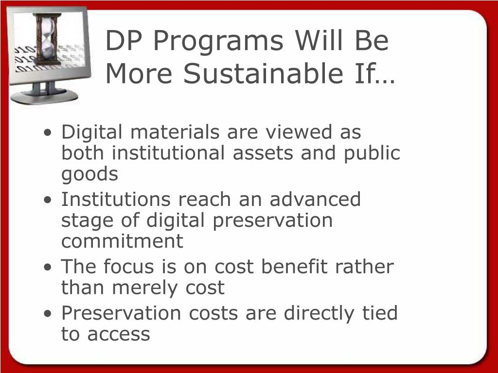 DP Programs Will Be More Sustainable If…